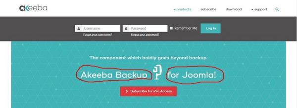33 первых расширения Joomla сайта Akeeba Backup for Joomla