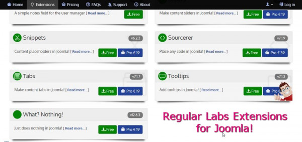 Regular Labs Extensions for Joomla